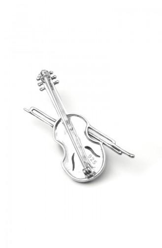 925 Silver Steinige Brosche ANYZK-BROS-012 Silver 012