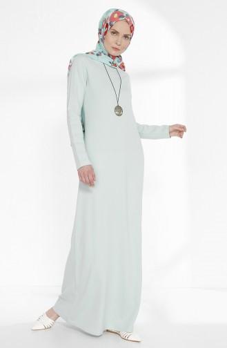 Robe avec Collier 2779-17 Vert Noisette 2779-17