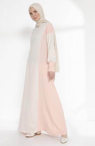 TUBANUR Garnili Dress 2941-09 Light Beige Powder 2941-09
