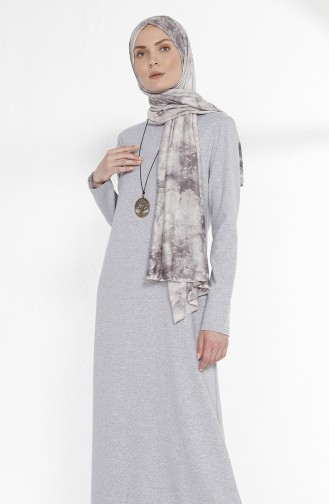 Robe avec Collier 2779-01 Gris 2779-01