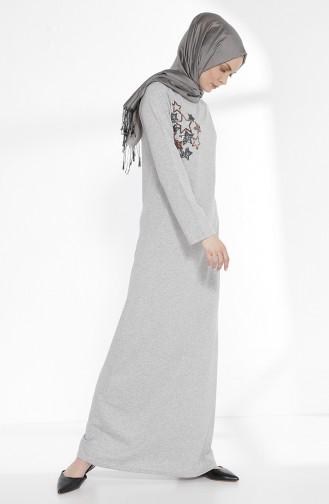 Robe a Paillettes 2979A-01 Gris 2979A-01