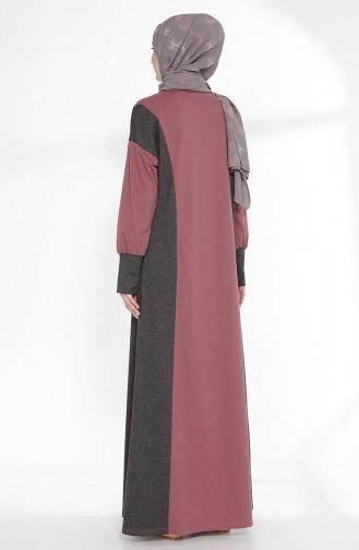 TUBANUR Garnili Dress 2941-12 Dried Rose Antrasit 2941-12