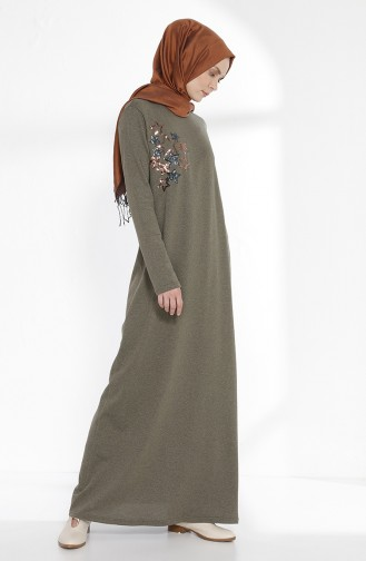 Khaki Hijap Kleider 2979-10