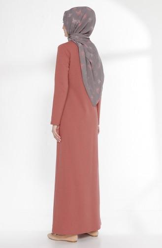 Robe avec Collier 2779-22 Rose Pâle Foncé 2779-22