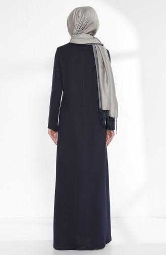 TUBANUR Sequined Dress 2979-01 Navy Blue 2979-01