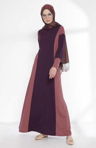 Robe Garnie 2941-16 Pourpre Rose Pâle 2941-16