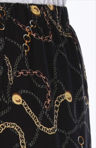 Pantalon Large a Motifs 25067-01 Noir 25067-01