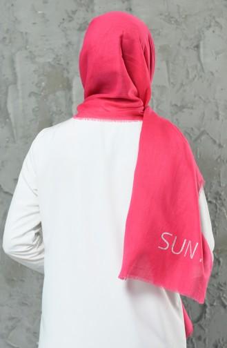 Gemusterter Baumwollschal 901498-18 Pink 901498-18