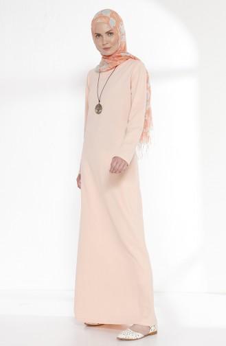 Kleid mit Zwei Garne und Halskette 2779-19 Puder 2779-19