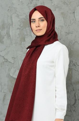 Claret red Shawl 2308-07
