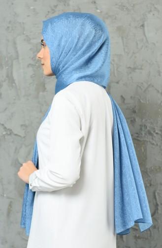 Sky Blue Shawl 2308-08