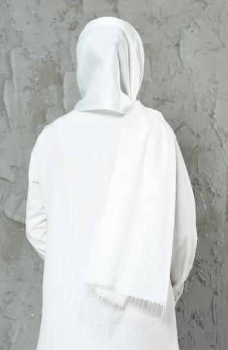 Châle Viscose Double Face 13069-14 Blanc 13069-14