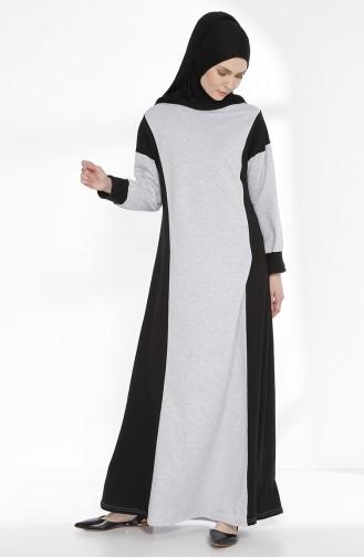 Robe Garnie 2941-08 Gris Noir 2941-08