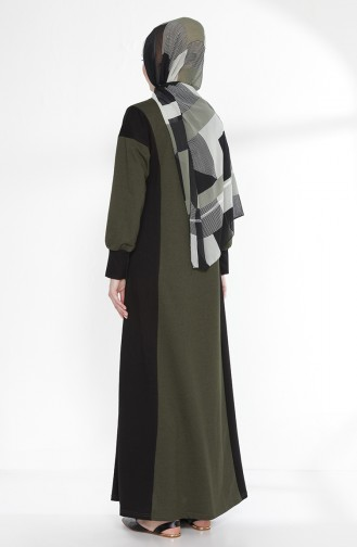 Robe Garnie 2941-01 Khaki Noir 2941-01