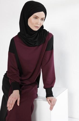 Robe Garnie 2941-02 Plum Noir 2941-02