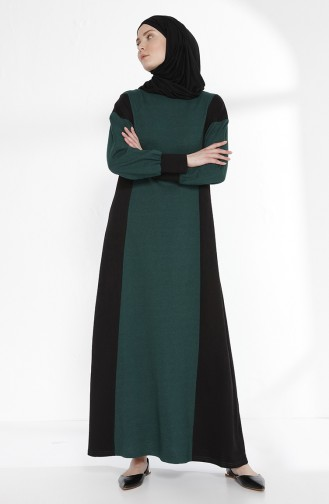 Robe Garnie 2941-03 Vert emeraude Noir 2941-03
