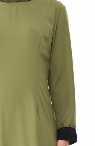 Robe Pierre İmprimée 7Y3728500-01 Khaki 7Y3728500-01
