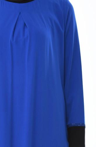 Robe Détail Dentelle 7Y3729100-01 Bleu Roi 7Y3729100-01