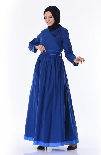 Robe a Ceinture 8Y3820200-01 Bleu Roi 8Y3820200-01