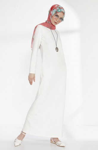 Robe avec Collier 2779-24 Blanc Cassé 2779-24