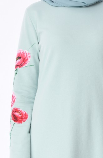 Grün Hijap Kleider 5027-12