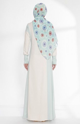 TUBANUR Garnili Dress 2941-10 Light Beige Green 2941-10