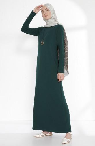 Zwei Garne Kleid mit Halskette 2779-07 Smaragdgrün 2779-07