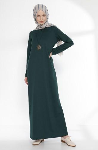 Kleid mit Zwei Garne 2779-15 Dunkel Smaradgrün 2779-15