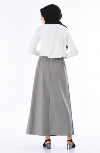 Gray Skirt 1045B-01