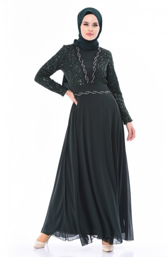 Emerald Islamic Clothing Evening Dress 52759-04