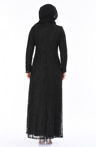 فساتين سهرة بتصميم اسلامي أسود 2055-01