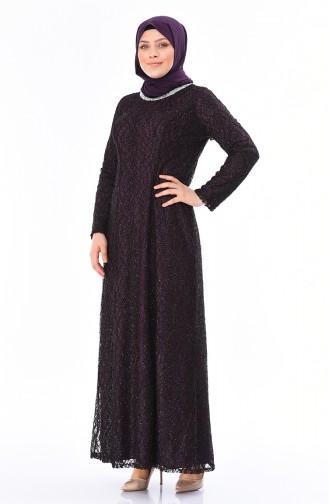 فساتين سهرة بتصميم اسلامي أرجواني 2055-02