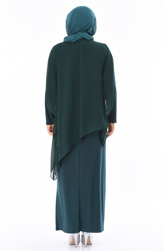 Grosse Grösse Abendkleid 4007-06 Smaragdgrün 4007-06