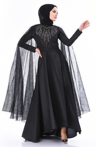 Robe de Soirée Perlées 5149-01 Noir 5149-01