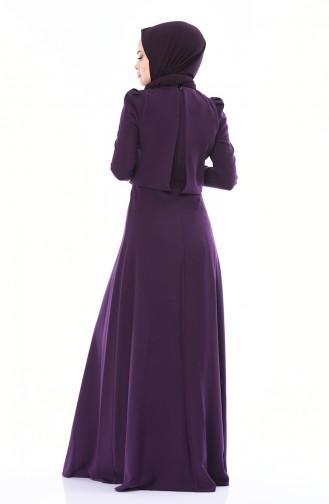 Purple Islamic Clothing Evening Dress 7006-01
