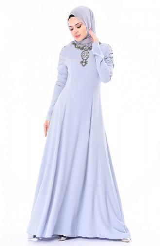 Steiniges Abendkleid 7055-01 Indigo 7055-01