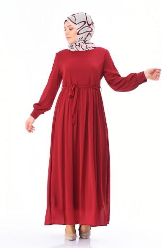 Claret red Dress 7263-01