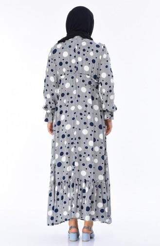 فستان أزرق كحلي 7264-01
