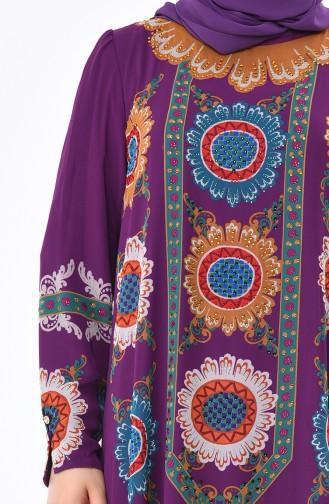 Robe Mousseline Grande Taille 6Y3608425-01 Lila 6Y3608425-01