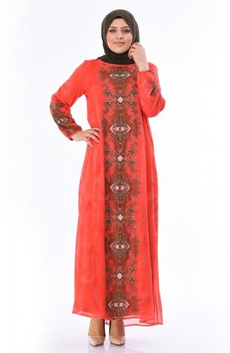 Robe Pierre Imprimée Grande Taille 6Y3611138-01 Corail 6Y3611138-01