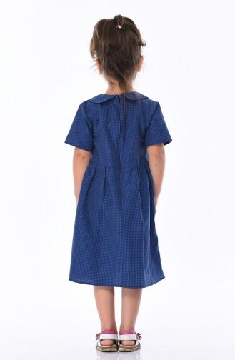 Dunkelblau Hijap Kleider 1008-01