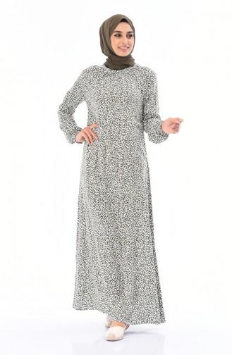 Khaki İslamitische Jurk 0081-03