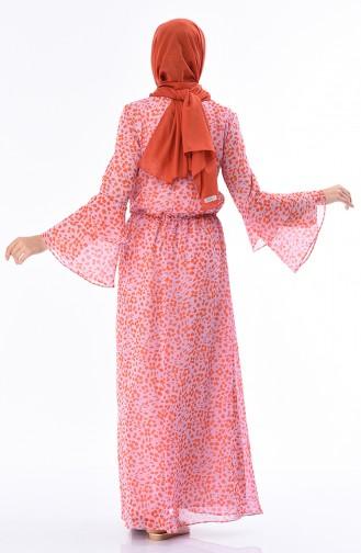 فستان مرجاني 60034-01