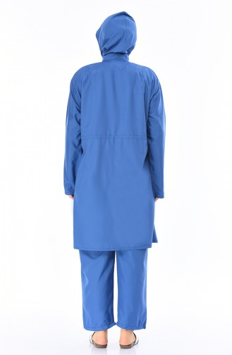 Maillot de Bain Hijab 15196 İndigo Bleu 15196