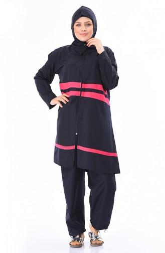 Fuchsia Hijab Badeanzug 15197