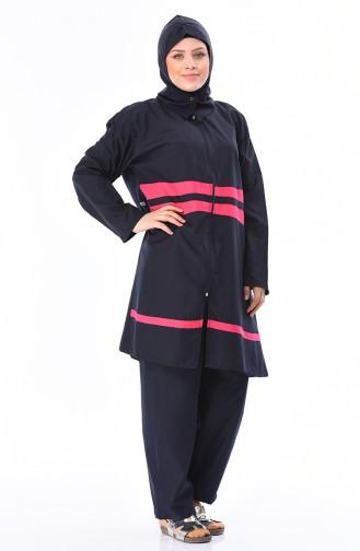 Fuchsia Swimsuit Hijab 15197
