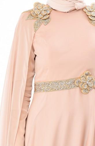 Gold Colour İslamitische Avondjurk 7061A-01
