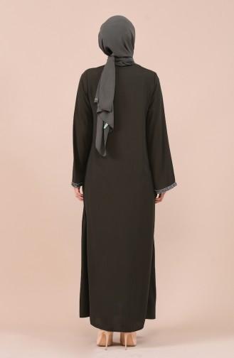 Khaki Abaya 0016-02