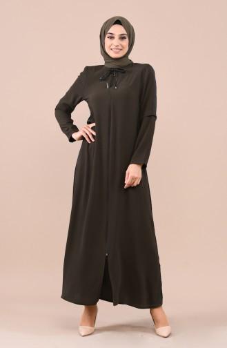 Khaki Abaya 0017-04