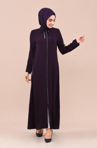 Abaya mit Reissverschluss 0017-05 Lila 0017-05